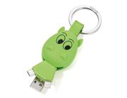 TROIKA Design Cable Cow USB/iPhone/Smartphone Kablo Uçlu Anahtarlık 93x35x23mm