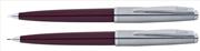 Scrikss Metropolis78 Bordo Akrilik-Çelik Tükenmez Kalem + Versatil Kalem Set