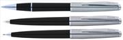 Scrikss Metropolis78 Siyah Akrilik-Çelik Rollerkalem + Tükenmezkalem + Versatilkalem Set