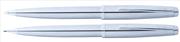 Scrikss Metropolis78M Krom/Çelik Tükenmez Kalem + Versatil Kalem Set