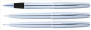 Scrikss Metropolis78M Krom/Çelik Rollerkalem + Tükenmezkalem + Versatilkalem Set