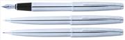 Scrikss Metropolis78M Krom/Çelik Dolmakalem + Tükenmezkalem + Versatilkalem Set