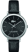 Lacoste Nice 2000887 Çelik Kasa/Siyah Deri Kayış 35mm Kol Saati - Bayan