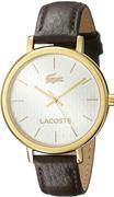 Lacoste Nice 2000888 Altın Kaplama Kasa/Kahve Deri Kayış 35mm Kol Saati - Bayan