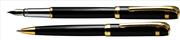 Steelpen Saturn183 Parlak Krom/Altın Kaplama Dolma Kalem + Tükenmez Kalem Set