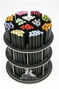 Francesco Rubinato Renkli Swarovski Taşlı Siyah Gövdeli Kurşun Kalem - 7 Farklı Taş rengi Seçeneği