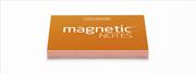 Magnetic Notes Her Yüzeye Yapışıp Çıkabilen Tutkalsız Statik Not Kağıdı - 100 lü Turuncu/Küçük