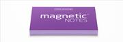 Magnetic Notes Her Yüzeye Yapışıp Çıkabilen Tutkalsız Statik Not Kağıdı - 100 lü Mor/Küçük