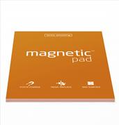 Magnetic Pad Her Yüzeye Yapışıp Çıkabilen Tutkalsız Statik Not Kağıdı - 50 li Turuncu/A4