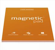 Magnetic Pad Her Yüzeye Yapışıp Çıkabilen Tutkalsız Statik Not Kağıdı - 50 li Turuncu/A3