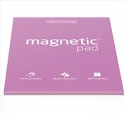 Magnetic Pad Her Yüzeye Yapışıp Çıkabilen Tutkalsız Statik Not Kağıdı - 50 li Pembe/A3