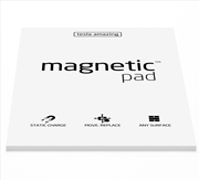 Magnetic Pad Her Yüzeye Yapışıp Çıkabilen Tutkalsız Statik Not Kağıdı - 50 li Beyaz/A3