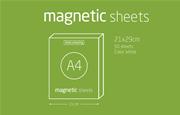 Magnetic Sheets Her Yüzeye Yapışıp Çıkabilen Tutkalsız Statik Laser Printer Kağıdı - 50 li Beyaz
