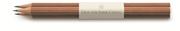 Graf von Faber-Castell Sedir Ağacı Guilloche İşlemeli Kahverengi gövdeli Kurşun Kalem 3 lü
