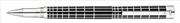 Waldmann Xetra Siyah Lake Kaplama Kapaklı X-style işlemeli 925 Som Gümüş Roller Kalem