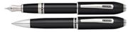 Cross Peerless Platinum Obsidian Black Lacquer Dolma Kalem + Tükenmez Kalem Takım