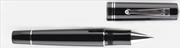 Delta Journal Black Rodyum Parlak Lake Doğal Reçine Roller Kalem