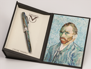 VISCONTI Van Gogh-Portrait Blue Vegetal Resin Dolma Kalem<br><img src= resim/mypenli.gif  border= 0 />