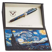 VISCONTI Van Gogh-Starry Night Vegetal Resin Dolma Kalem<br><img src= resim/mypenli.gif  border= 0 />