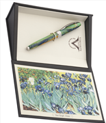 VISCONTI Van Gogh-Irises Vegetal Resin Dolma Kalem<br><img src= resim/mypenli.gif  border= 0 />