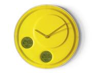 Lexon Flow İç ve Dış Derece ve Nem Göstergeli Duvar Saati - Sarı