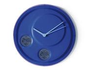 Lexon Flow İç ve Dış Derece ve Nem Göstergeli Duvar Saati - Mavi