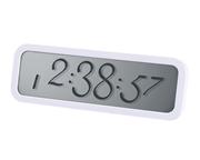 Lexon Script Kaligrafi Fontlu LCD Alarm/Saat - Beyaz