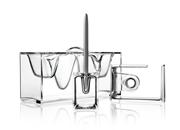 Lexon Akrilik Bantlık/Standlı Kalemlik/Masa Organizeri - Transparan