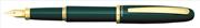 Platinum Balance Akrilik Reçine Yeşil/Altın Dolma Kalem - 2 Farklı Uç Seçeneği<br><img src= resim/isyaz.gif  border= 0 />