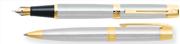 SHEAFFER 300 Krom/Altın Dolmakalem + Tükenmezkalem Takım