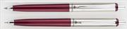 Steelpen 330 Bordo/Krom Üsten Basmalı Tükenmezkalem + 0.7mm Versatilkalem
