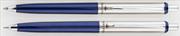 Steelpen 330 Lacivert/Krom Üsten Basmalı Tükenmezkalem + 0.7mm Versatilkalem