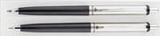 Steelpen 330 Siyah/Krom Üsten Basmalı Tükenmezkalem + 0.7mm Versatilkalem