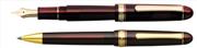 Platinum 3776 Century Burgonya Bordosu/Altın Dolma Kalem + Tükenmez kalem