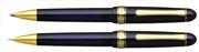 Platinum 3776 Century Vitray Cam Mavisi/Altın Tükenmez kalem + 0.5mm M.Kurşun kalem