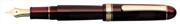 Platinum 3776 Century Dolma kalem - Transparan Burgonya Bordosu/Altın - F(Fine)