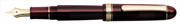 Platinum 3776 Century Dolma kalem - Transparan Burgonya Bordosu/Altın - C(Double Broad)