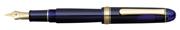 Platinum 3776 Century Dolma kalem - Transparan Vitray Cam Mavi/Altın - C(Double Broad)