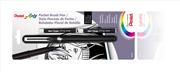 Pentel Arts Pocket Brush Cep Tipi Fırça Kalem +2 Adet Kartuş GFKP-FP10