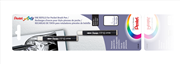 Pentel Arts Pocket Brush Cep Tipi Fırça Kalem için 4 Adet Siyah Kartuş FP10
