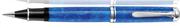 Pelikan R805 Souverän Vibrant Blue Akrilik Reçine/Paladyum Aksam Aksam Roller Kalem