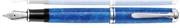 Pelikan M805 Souverän Vibrant Blue Akrilik Reçine/Paladyum Aksam Aksam Dolma Kalem - 4 Farklı Uç Seçeneği
