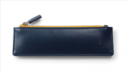 Cross Bravo TrackR GPS Teknolojili Suni Deri Fermuarlı Kalem Kutusu - Mavi