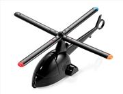 TROIKA Design Pervane Tasarımlı 4 Tükenmezkalem + Helikopter Masa Üstü Aksesuar - Siyah