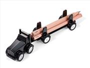 TROIKA LUMBERTRUCK Tır+Römork Tasarımlı Masa Üstü Organizer 224x45x54mm - Siyah