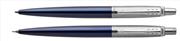 Parker Jotter Royal Blue Reçine/Çelik Tükenmez Kalem + Versatil Kalem - Saten Koyu Mavi