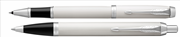 Parker IM Lake Beyaz/Krom Roller Kalem + Tükenmez Kalem
