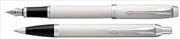 Parker IM Lake Beyaz/Krom Dolma Kalem + Tükenmez Kalem
