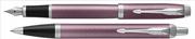 Parker IM Metal Fırça Darbeli Mor/Krom Dolma Kalem + Tükenmez Kalem