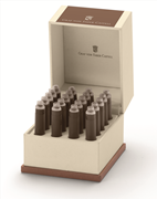 Graf von Faber-Castell Özel Saklama Kutulu Dolma kalem Kartuşu 20 adet - Fındık Kahve